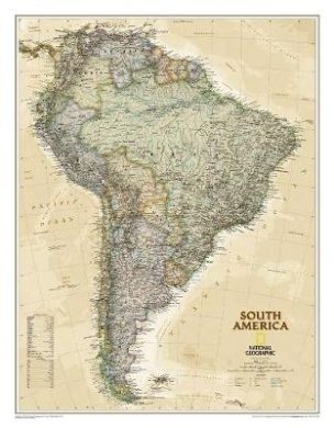 South America Executive, Laminated: Wall Maps Continents