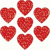 Carson Dellosa Hearts, Red Dazzle Stickers