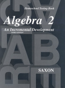 Homeschool Testing Book Algebra 2