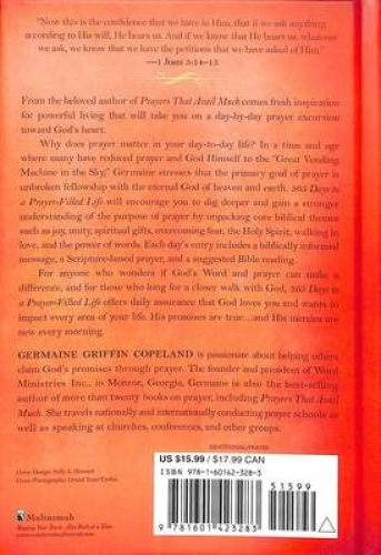 365 Days to a Prayer-Filled Life by Germaine Copeland.