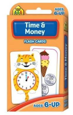 School Zone Flashcards Time & Money (School Zone)