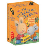 The Wheels on the Bus (Nursery Songs Book & Floor Puzzle) [Board book]