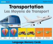 Language Memory Cards - Transportation - English-spanish