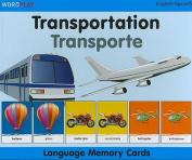 Transportation/Transporte Wordplay Language Memory Cards