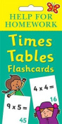 Help for Homework Times Tables Flash Cards
