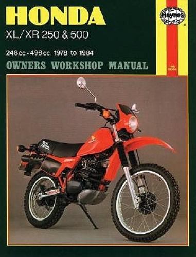 Honda XL/XR250 and 500 1978-84 Owner's Workshop Manual (Motorcycle Manuals).