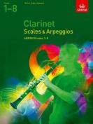 Clarinet Scales & Arpeggios, ABRSM Grades 1-8
