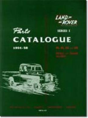 Land Rover Series 1 Parts Catalogues 1954-58 (Official Parts Catalogue S.)