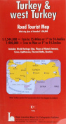 Turkey and West Turkey Road Tourist Map Including Town Plan of Istanbul