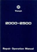 Triumph 2000 and 2500 Workshop Manual