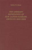 The Literary Reputation of Else Lasker-Schuler