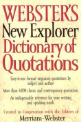 Webster's New Explorer Dictionary of Quotations