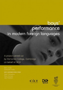 Boys' Performance in Modern Foreign Languages