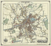 Stockport 1845 Map