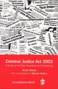 The Criminal Justice Act 2003