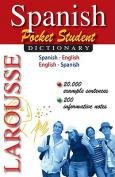 Spanish Pocket Student Dictionary [Spanish]