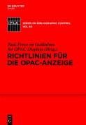 Richtlinien Fr Die Opac-Anzeige [GER]