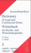 Dictionary of Legal and Commercial Terms