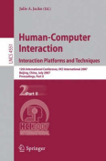 Human-Computer Interaction - Interaction Platforms and Techniques