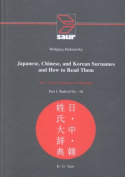 Japanese, Chinese, and Korean Surnames and How to Read Them/2 Volumes Bound in 3 Books