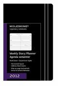 Moleskine Weekly Diary/Planner, Horizontal, Black, Hard Cover, Pocket