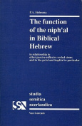 The Function of the <i>niph'al</i> in Biblical Hebrew