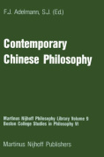Contemporary Chinese Philosophy