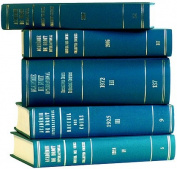 Recueil Des Cours, Collected Courses: Collected Courses of the Hague Academy of International Law