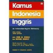 Kamus Indonesia-Inggris
