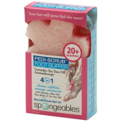 Spongeables Pedi Scrub Foot Buffer 20+ Washes, Lavender Tea Tree Oil Aromatherapy, 60ml