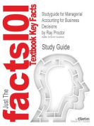 Studyguide for Managerial Accounting for Business Decisions by Proctor, Ray, ISBN 9780273717553