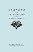 Erreurs Sur La Musique Dans L'Encyclopedie [De J.J. Rousseau] [FRE]