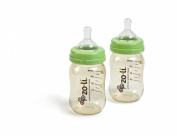 Zoli PES 2-Pack Baby Bottle with Anti-Colic Nipples - 150ml
