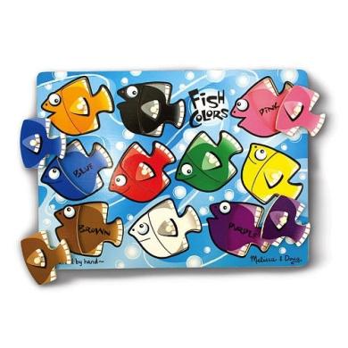 Melissa & Doug Fish Colours Mix 'n Match Peg