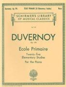Ecole Primaire (25 Elementary Studies), Op. 176