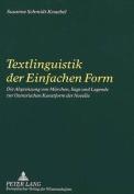 Textlinguistik Der Einfachen Form [GER]