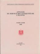 Annales Du Service Des Antiquites de L'Egypte