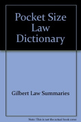 Pocket Size Law Dictionary--Black