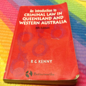 Introduction to Criminal Law in Queensland and Western Australia