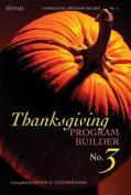Thanksgiving Program Builder No. 3