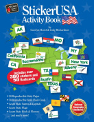 Barker Creek STS-5520 StickerUSA Activity Book with new CD