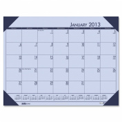 House of Doolittle EcoTONES Monthly Desk Pad Calendar, 4-Corner Holder, January-December, 2013, 60cm x 43cm , Sunset Orchid