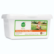 Chlorine Free Baby Wipes, White, Unscented, 70/Tub