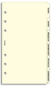 Filofax Personal Indices Subject 6 Tabs Cream