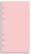 Filofax Personal Refill Pink Lined Notepaper