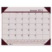 HOUSE OF DOOLITTLE 12470 Desk Pad 12 Month Jan-Dec 22inx43cm Rose