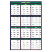 House of Doolittle 391 Four Seasons Reversible/Erasable Business/Academic Year Wall Calendar 24 x 37