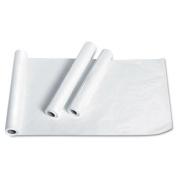 "Exam Table Paper, Deluxe Crepe, 21"" x 125ft, White, 12 Rolls/Carton"