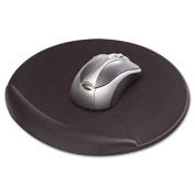 Viscoflex Memory Foam Oval Mouse Pad, Black