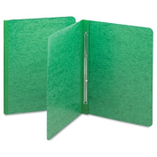 SMEAD Side Opening Pressboard Report Cover, Prong Fastener, Letter, Green
